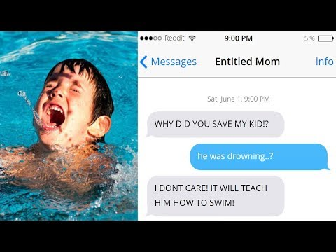 r/Entitled Parents Mom wants her kid to DROWN! - YouTube