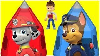 Learn Colors with Paw Patrol Toys and Cartoon Rockets