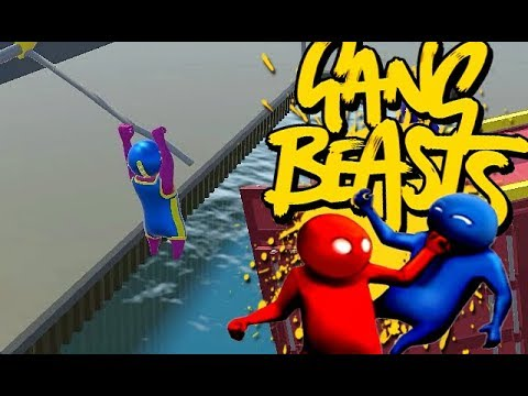 GANG BEASTS ONLINE - Flying Through the Air...
