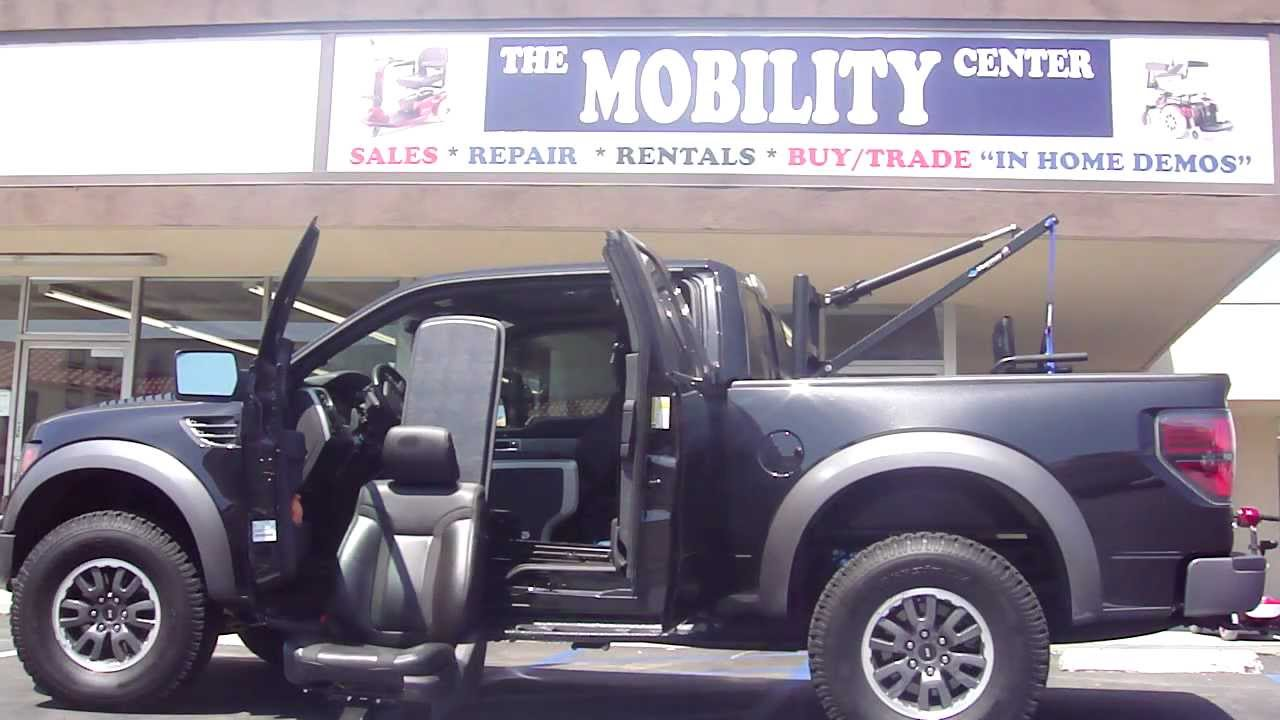 Ford Raptor with Freedom Seat and Harmar Pick Truck Lift Southern ...