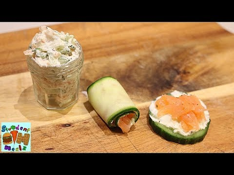 Salmon Cucumber And Cream Cheese Appetizer