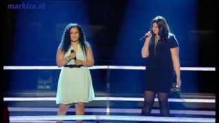 Hlas Česko Slovenska - Anabela Mollová a Veronika Bílková - Alicia Keys - Girl on Fire