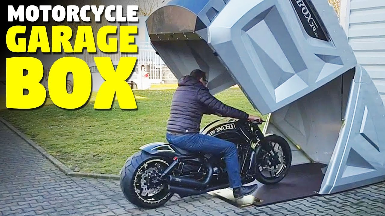 Best Motorcycle Storage Shed Bikebox24 Youtube