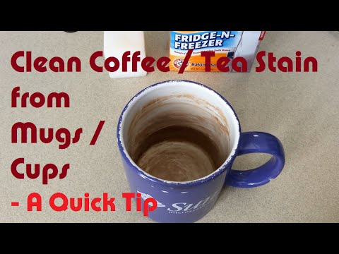 clean coffee and tea stain from mugs cups a learnbyblogging quick tip youtube. Black Bedroom Furniture Sets. Home Design Ideas