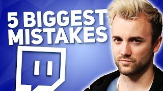 Top 5 Streaming Mistakes That SO MANY TWITCH STREAMERS ARE MAKING!!1!