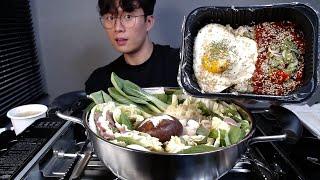밀푀유나베 순살양념게장비빔밥 리얼 소통 먹방 ASMR …