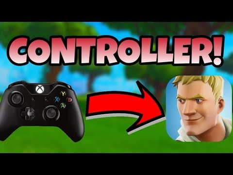 Fortnite Mobile How to Connect/Use a Controller on IOS/Android   Fortnite Mobile Controller Support!