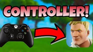 Fortnite Mobile How to Connect/Use a Controller on IOS/Android | Fortnite Mobile Controller Support!