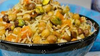 Вегетарианский плов с нутом по-узбекски