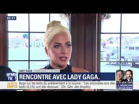 Lady Gaga & Bradley Cooper interviewed by French TV