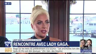 Lady Gaga & Bradley Cooper interviewed by French TV Video