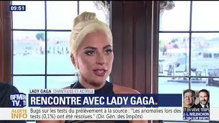 Lady Gaga & Bradley Cooper interviewed by French TV