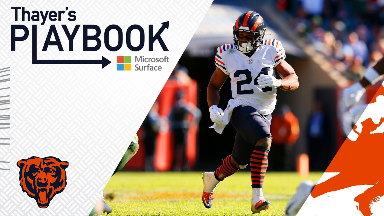 Khalil Herbert executes North and South vs. Packers   Thayer's Playbook   Chicago Bears