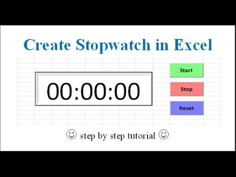 Create Stopwatch in Excel