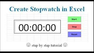 Create Stopwatch in Excel screenshot 5