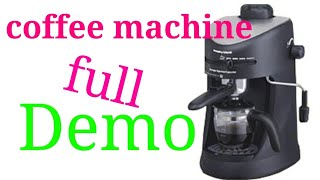 Coffee maker demo