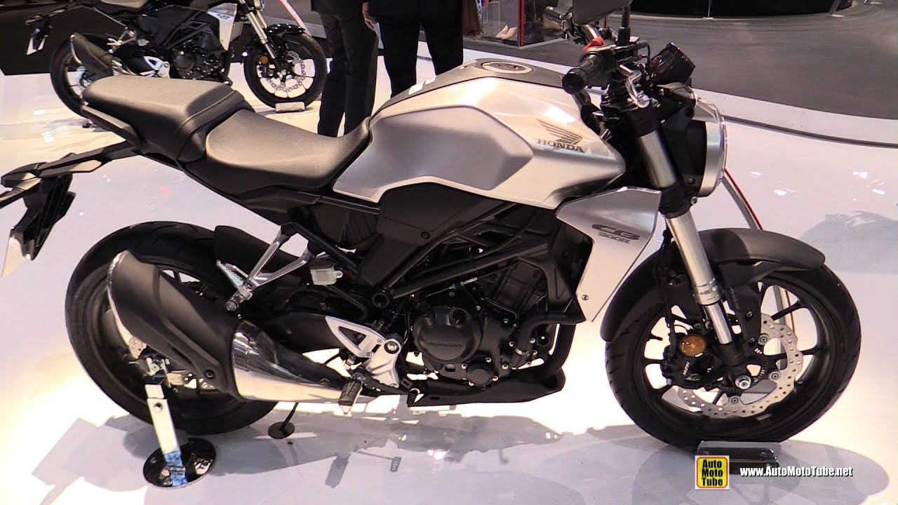 2018 Honda CB300R Neo Sports Cafe - Walkaround - 2017 EICMA Milan Motorcycle Exhibition - YouTube