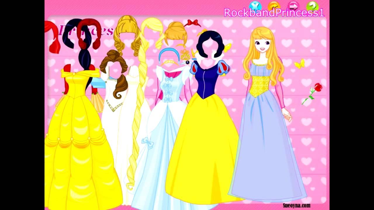 Disney Games Disney Princess Dress Up Game Youtube