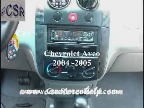 Chevrolet Aveo Stereo Removal Youtube