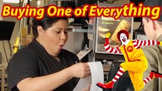 ordering everything on the menu with youtube ad revenue