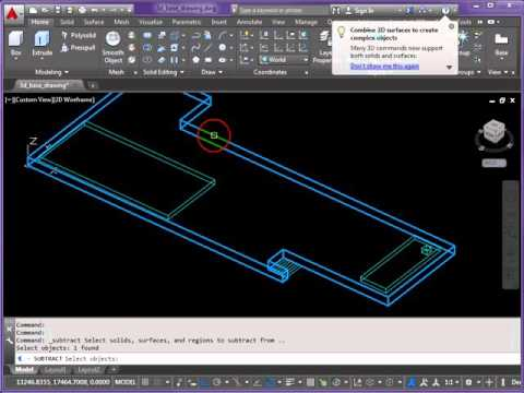 3D AutoCAD - Barcelona Pavilion Model - Part 1