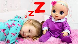 Essy sings a lullaby for the baby | Rock-a-bye Baby Kids Song