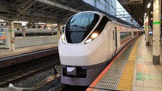 【臨時特急ひたち13号仙台行き】E657系K7編成が発車するシーン(2021.2.15)