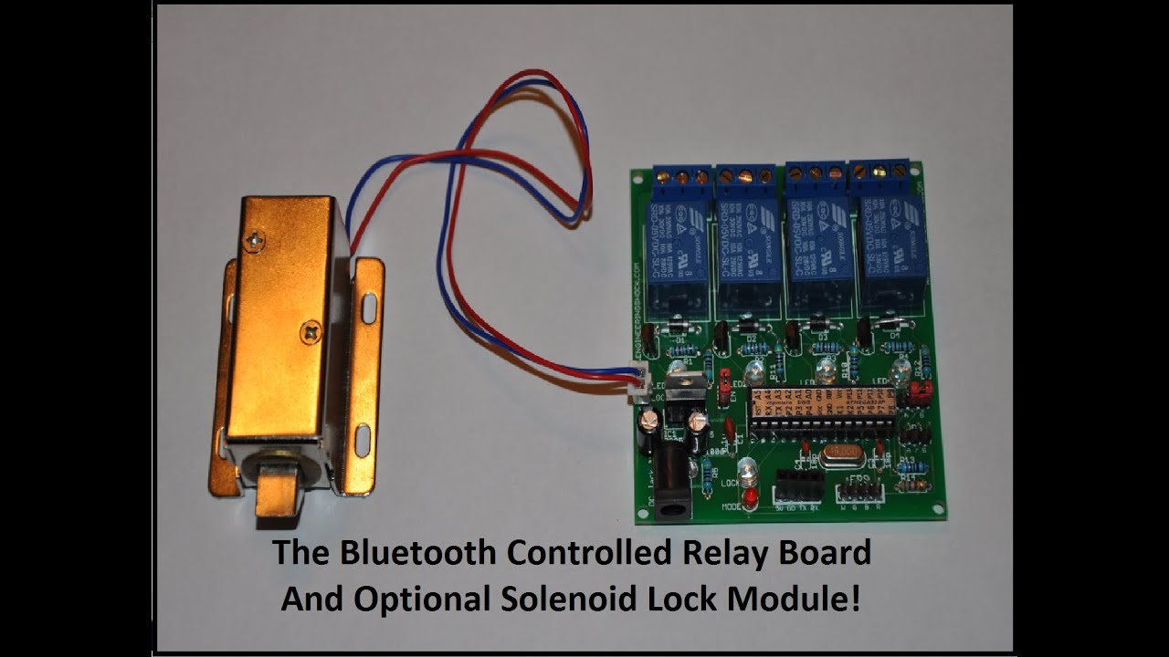 The Bluetooth Android Controlled Relay Board Module Youtube