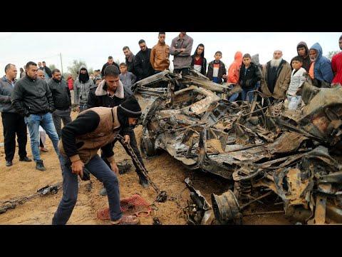 Israeli air strikes target Gaza after barrage of rocket fire