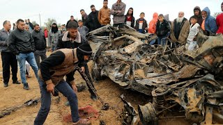 Israeli air strikes target Gaza after barrage of rocket fire