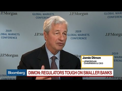 JPM's Dimon Says European Banks Need Cross-Border Mergers