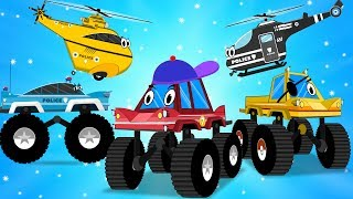 Little Red Truck | Street Vehicles | Police Car Song | Nursery Rhymes For Kids