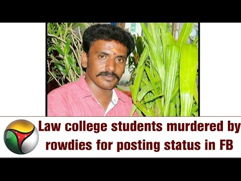 Law college students murdered by rowdies for posting status in Facebook