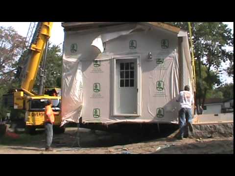 this is how a prefabricated house is put in