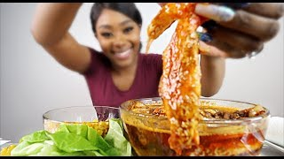 KING CRAB SEAFOOD BOIL MUKBANG DRENCHED IN SAUCE & DESHELLED | 2020