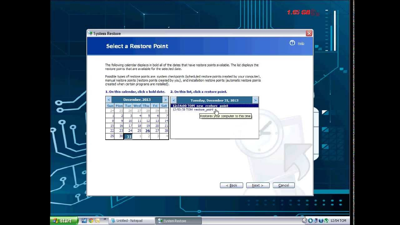 windows xp system recovery how to