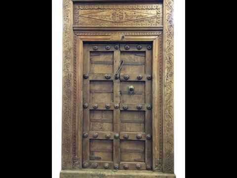 Indian Furniture Antique Door And Window - Indian Furniture Antique Door And Window - YouTube