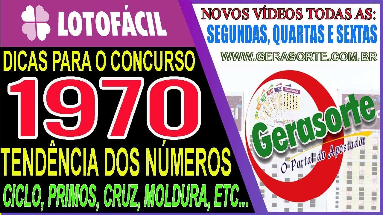 Lotofacil 1970 Dicas E Analise Youtube