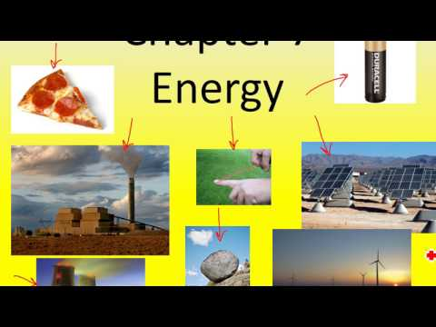 Introduction to Energy and Work.  (Physics Ch. 7, Part 1)