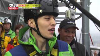 [HD] 이동욱, 233m 번지점프 성공~! @런닝맨 (Running Man) 20120217