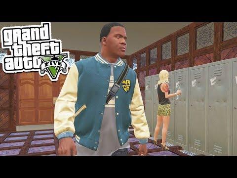 GTA 5: First Day of High School!!!👭👬😜 (GTA 5 Real Life Mod)
