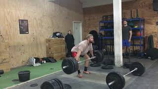 Low Hang Snatch: 110 x 2 reps by Mike Bjerregaard