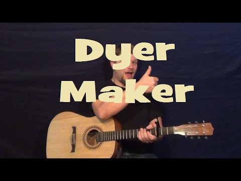 Dyer Maker (Led Zeppelin) Guitar Lesson Strum Chord Lick How to Play ...