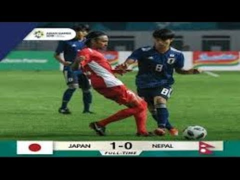 Jepang Vs Nepal 1-0 FT    Asian Games 2018