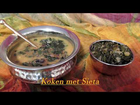 Moringa bereid als groente (Drumsticks leaves) vegetarisch