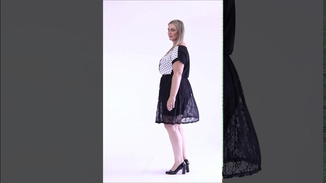 76a5520ee Blusa poá com detalhe e Saia com renda preta Plus Size - Marguerite |  Posthaus