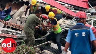 24 killed in Cambodia building collapse