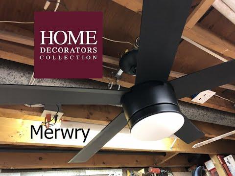 Merwry 52 In Led Indoor Brushed Nickel Ceiling Fan Hampton Bay Ceiling Fans Lighting
