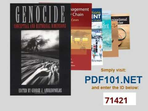 Genocide Conceptual and Historical Dimensions Pennsylvania Studies in Human Rights