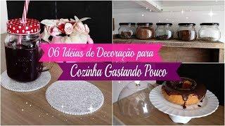 6 IDEIAS DE DECORAÇÃO PARA COZINHA GASTANDO POUCO| Carla Oliveira